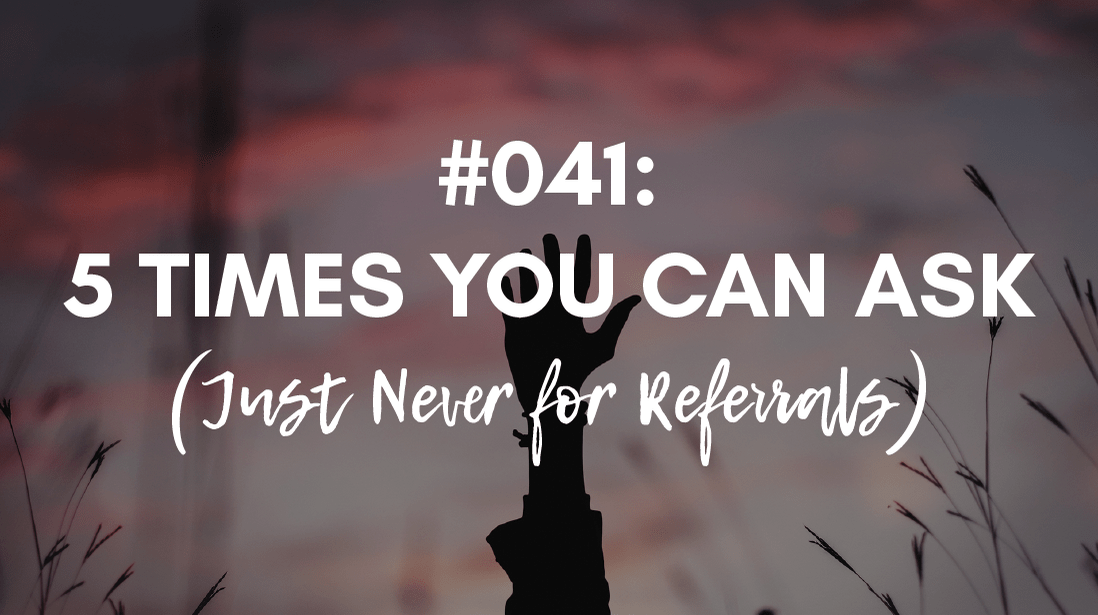 you can't ask for referrals