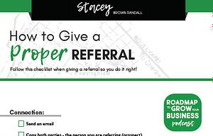 checklist to give proper referral