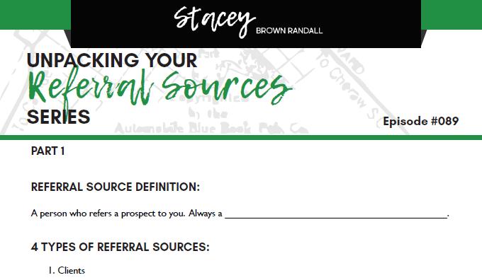 Worksheet Image for Digging In: Referral Sources
