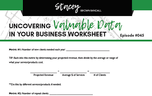 your business' valuable data