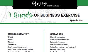 4 Quads of Business worksheet image