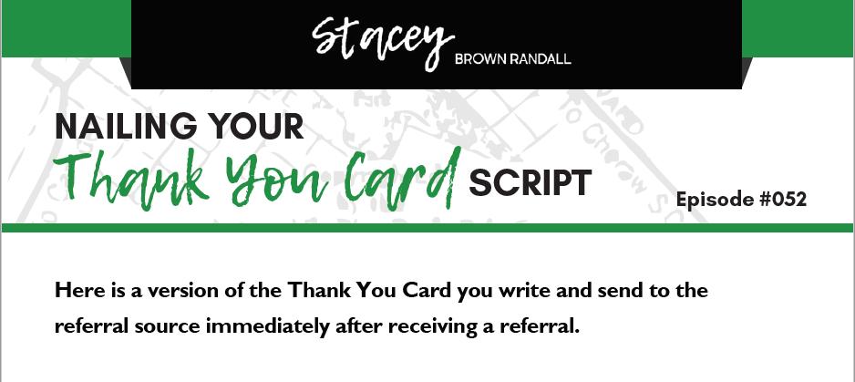 Thank You Card Script