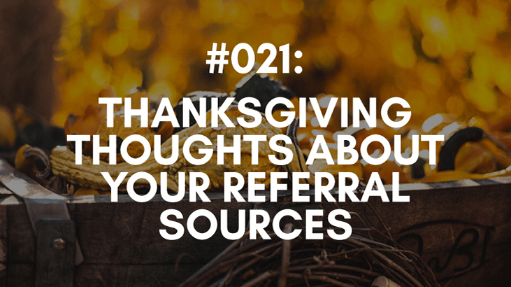 Referral Sources and holiday cards