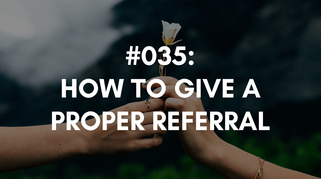 the right way to give a referral